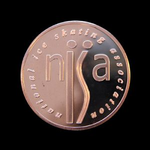 NISA Sports Medals - National Ice Skating Association 50mm bronze minted bespoke sports medal