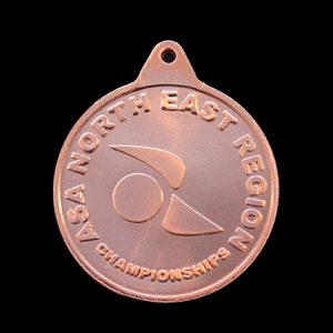 ASA North East Region 38mm Silver Championships Sports Medal