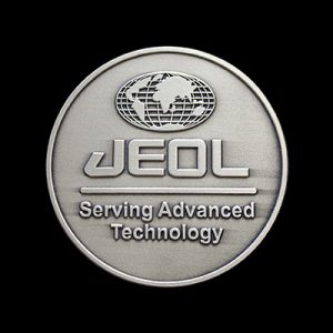 JEOL serving advanced technology medal - 60mm silver antique corporate medal - Medals UK