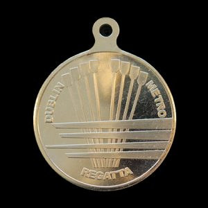 Dublin Metropolitan Regatta Sports Medal - 50mm gold minted custom made sports pendant
