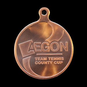 LTA 50mm Silver Minted AEGON Team Tennis Sports Medal