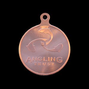 Angling Trust National Championships sports medals reverse - 50mm bronze minted - Medals UK