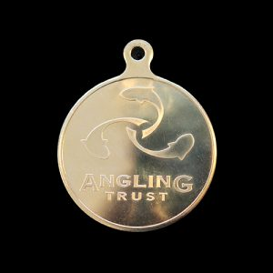 Angling Trust National Championships sports medals- 50mm gold minted Angling Trust Logo - Medals UK