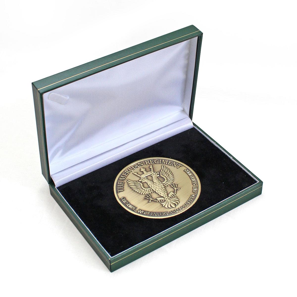 The Mercian Regiment 75mm Gold Antique Regimental Medal Award Reverse