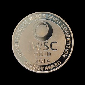 Custom made gold minted International Wine & Spirit IWSC Competition 2014 medal. 50mm gold minted medal award - by Medals UK
