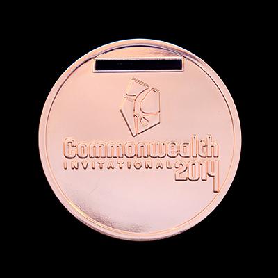 Scottish Gymnastics 50mm Silver Polished Commonwealth Invitational 2014 Sports Medal