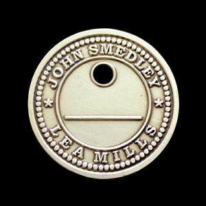 John Smedley Commemorative Coin - 34mm Gold Antique -Lea Mills Anniversary by Medals UK