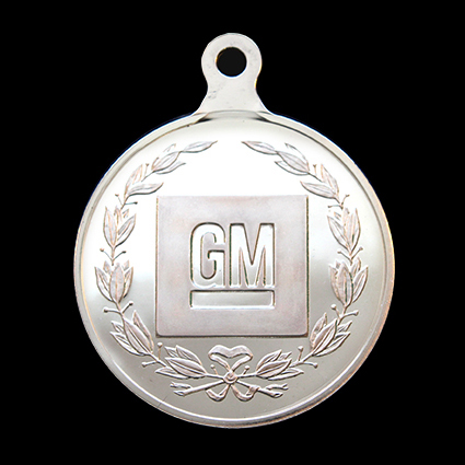 GM Presidents Challenge medal - General Motors 50mm Silver Minted sports medal - by Medals UK