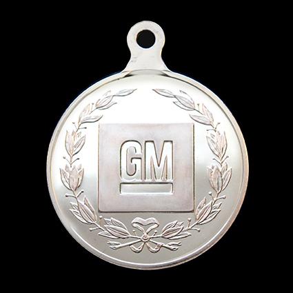 GM Presidents Challenge medal - General Motors 50mm Silver Minted sports medal - by Medals UK