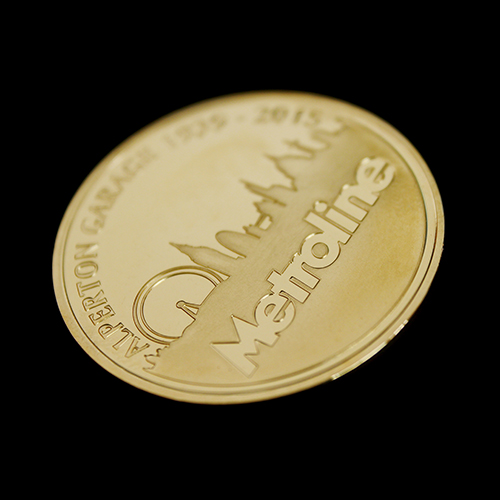 Metroline Commemorative Coin custom made to be awarded to best London Garage 2015 - Alperton Garage Back shot of coin