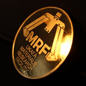 UKAEA MRF Commemorative Coin in gold to mark the opening of the new Materials Research Facility in 2016. Medals UK were praised for their Great Service Prompt and Efficient in delivering the coin