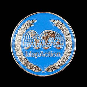 Map Action Awards Medal - 25mm Silver enamelled Lapel Pin - Medals UK