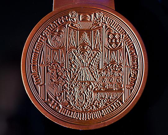 St Andrews Golf Anniversary Medal presentation case - gold foil embossed commemorative medal presentation case by Medals UK