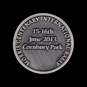 antique 100th Anniversary Commemorative Coin celebrating Morris International Rally - by Medals UK