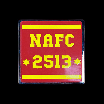 NAF Leaders medal - Custom made corporate 30mm square silver enamelled medal NAFC 2513 Awards Coin