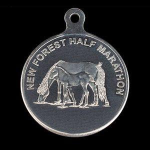 New Forest Half Marathon 50mm Silver Minted Crest Sports Medal