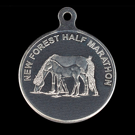 New Forest Half Marathon 50mm Silver Minted Crest Sports Medal