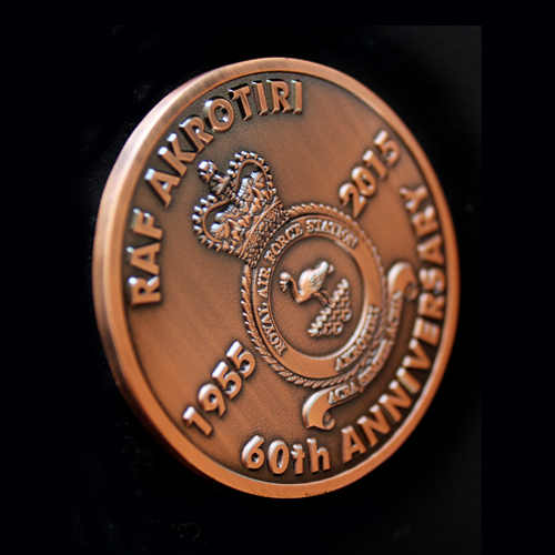 RAF Akritori 50mm Bronze Antique Finish 60th Anniversary Medal