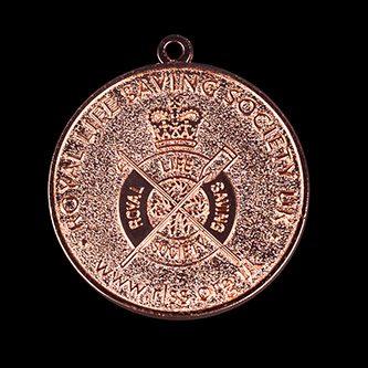 RLSS Medallion Award 40mm Bronze Frosted/Polished Sports Medal Rev