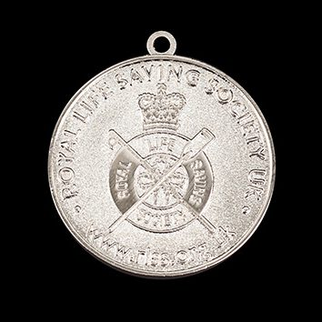 RLSS Medallion Award 40mm Silver Frosted/Polished Sports Medal Rev