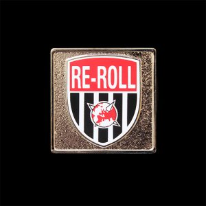 Re-Roll 30x30mm Silver Token with Printed Insert