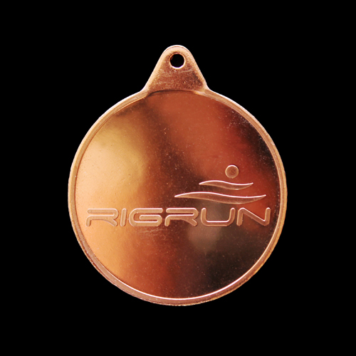 RigRun Sports Medal - 38mm bronze minted sports medal - Medals UK