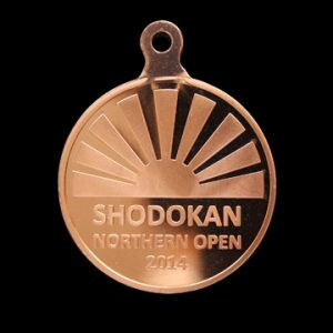 Shadokan Northern Open 2014 50mm Bronze Minted Sports Medal