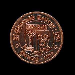St Edmunds College Headmasters Medal - 38mm Bronze Minted commemorative medal - Medals UK