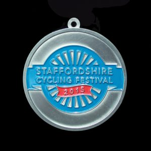 Staffordshire Cycling Festival Sports Medal - 50mm silver
