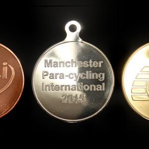 Para Cycling International Custom Made Sports Medal - 50mm awards medals in gold