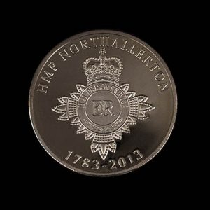 HMP Northallerton Anniversary Coin - 38mm silver minted 1783-2013 commemorative coin