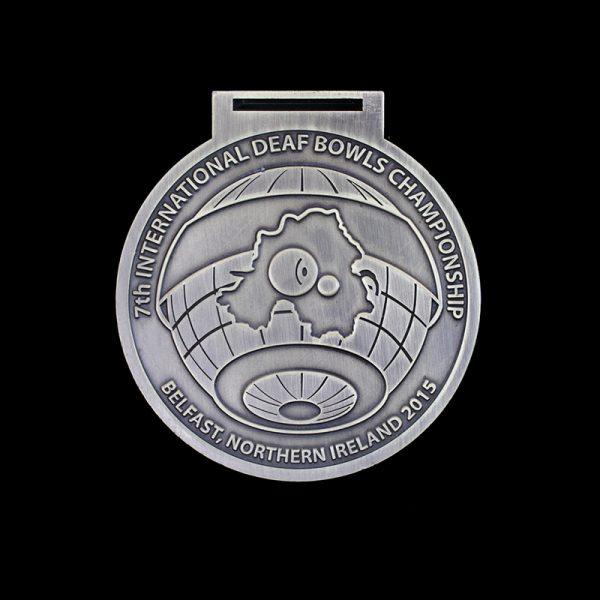 Silver International Deaf Bowls Championship Sports Medals