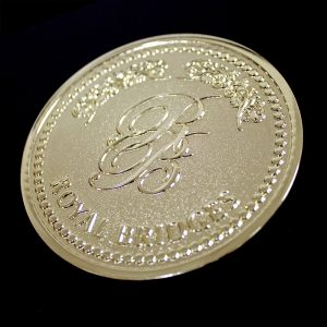 Obverse of Commemorative coin for Royal Bridges was custom made by Medals UK to celebrate the 2016 Convergence in Dubai in gold