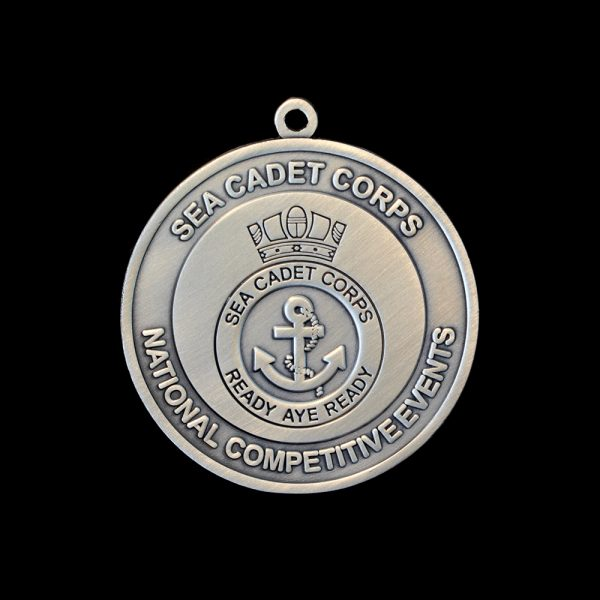 Silver Smooth Sea Cadet Corp National Competitive Events Awards Medals Obverse