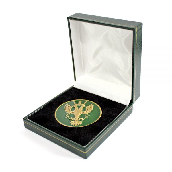 The Mercian Regiment Antique Commemorative Medal and Packaging was produced by Medals UK with an antique colour finish