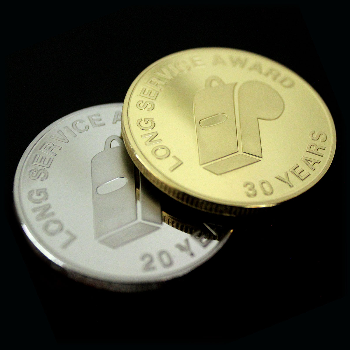 Devon County FA Long Service Commemorative Coins - 38mm Gold Silver Semi-Proof - 20 30 Years - by Medals UK World Cup Blog