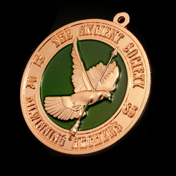 Kilwinning Archery Awards Medals - 50mm Bronze Frosted Colour - Sports Medals created by Medals UK