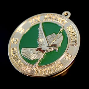 50mm Gold Frosted Colour Sports Pendant - Kilwinning Archery Awards Medals for the Ancient Society of Archers