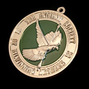 50mm Silver Kilwinning Archery Awards Medals with a Frosted Colour Finish - Sport Pendants by Medals UK