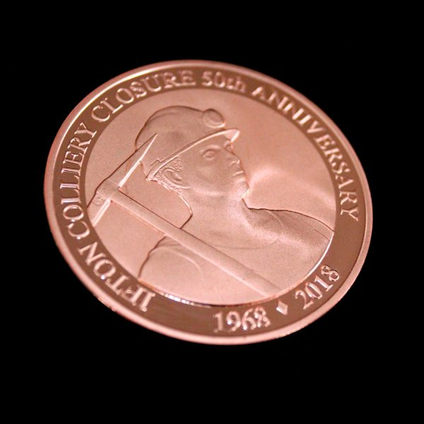 50mm Bronze Minted Bright Ifton Colliery Anniversary Coin