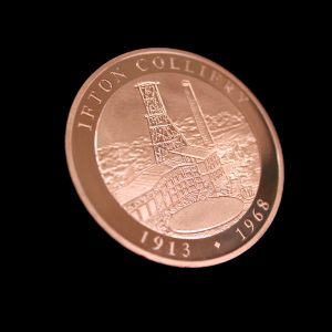 50mm Bronze Minted Bright Ifton Colliery Anniversary Coin Reverse