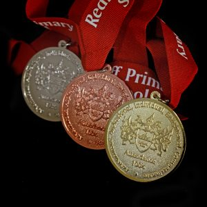 50mm Gold Silver Bronze Frosted Polished Redriff Attendance Schools Medal