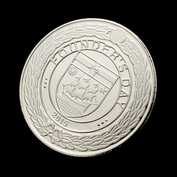Close up of Reverse 50mm Red Maids High School Founders Day Commemorative Coin