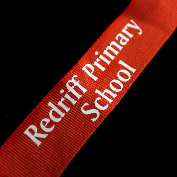 Close up image of 50mm Gold Frosted Polished Redriff Attendance Schools Medal