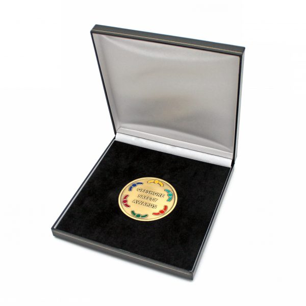 Offshore Safety Awards Medal in packaging