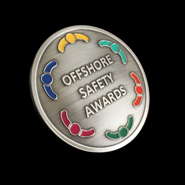 Clouse up of Offshore Safety AwardsMedal silver