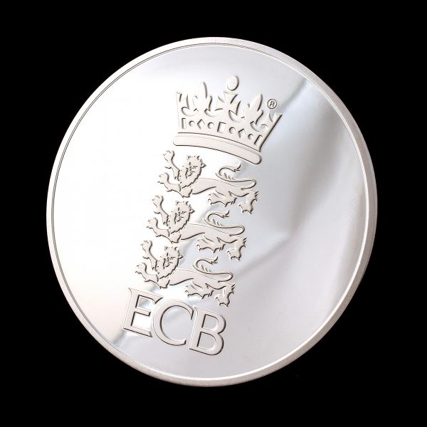 England and Wales Cricket Board Commemorative Coin on black background