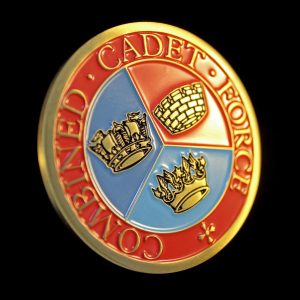 Close up of Sandbach School Cadets Medal