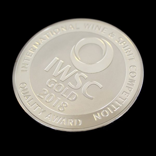 50mm Gold Semi-Proof Medal IWSC quality award Gold 2018 for The International Wine & Spirit Competition v2