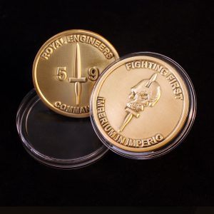 38mm Gold Antique Smooth Commemorative Coin Fighting First with Capsule for 59 Independent Commando Squadron Royal Engineers